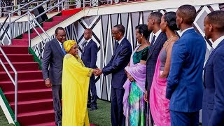 Heads of State depart after Kagame