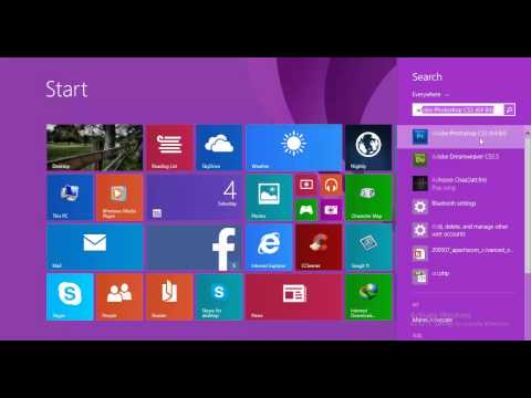 How to open adobe photoshop in windows 8.1