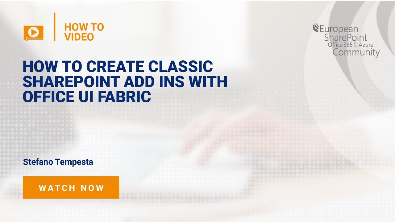 How To Create Classic SharePoint Add ins with Office UI Fabric
