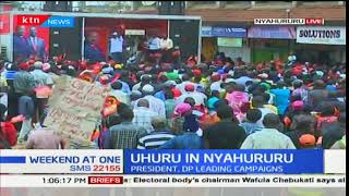 President Uhuru Kenyatta and DP William Ruto is expected in Nyeri and Laikipia for campaigns
