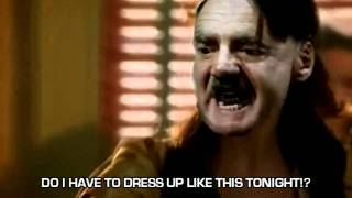 Fegelein traps Hitler in a silly costume.