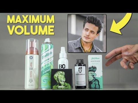 The Best Hair Products For VOLUME   Mens Hair Tips