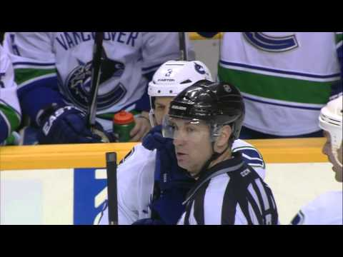 Gotta See It: Two Canucks ejected after high hit on Gaustad