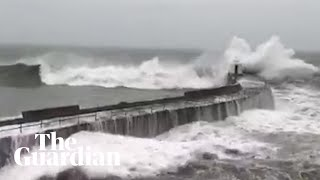 Storm Dennis is sweeping across the UK this weekend, bringing with it winds of up to 70mph, heaving rain and flooding. In some areas more than a month's rain is expected to fall in just two days. The weather chaos comes in the wake of Storm Ciara, which last weekend flooded 800 homes and left half a million people without electricity