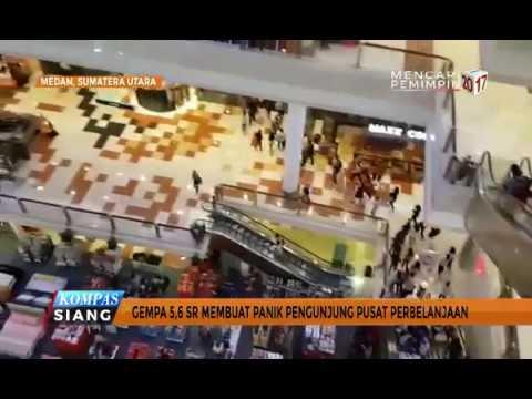 Gempa 5,6 SR Guncang Medan, Warga Panik