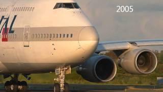 Jumbo 747 Japan Air Lines 1970-2010