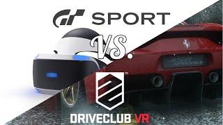 GT Sport VR VS. Driveclub VR!