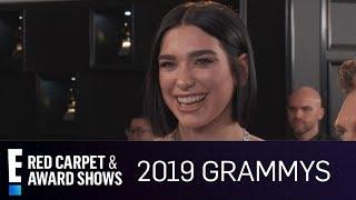 Dua Lipa Can't Stop Crying at 2019 Grammy Awards | E! Red Carpet & Award Shows