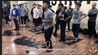 Bboy Neguin | Fundamental Movement: Kicks | #BCONE | #SXSTV
