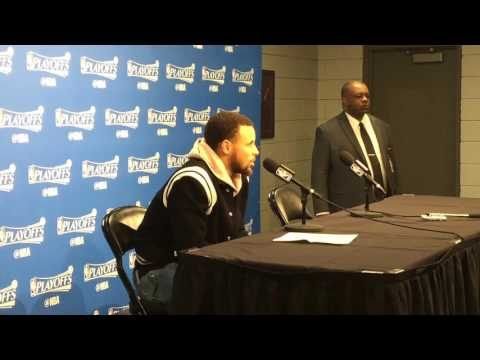 STEPHEN CURRY interview, Golden State Warriors (4-0) postgame, Game 4 vs Portland Trail Blazers