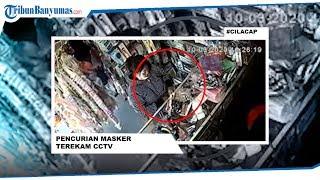 Video Rekaman CCTV Perempuan Cantik Curi Masker dan Hand Sanitizer di Toko, Begini Modusnya