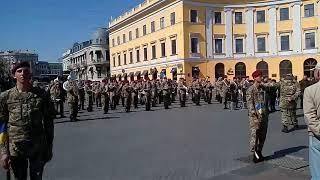 Репетиция, ко дню освобождения Одессы от фашистских захватчиков.