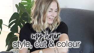 My long bob hair: style, cut & colour!