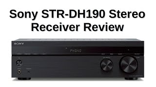Sony STR-DH190 Stereo Receiver Review