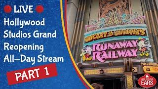 🔴 Live: Hollywood Studios Grand Reopening PART 1 - Walt Disney World Live Stream 🔴