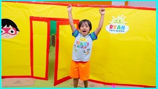 Ryan Giant Box Fort Mansion Pretend Play House Tour!!!