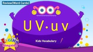 Kids từ vựng biên soạn - Words bắt đầu với U u, v v 2