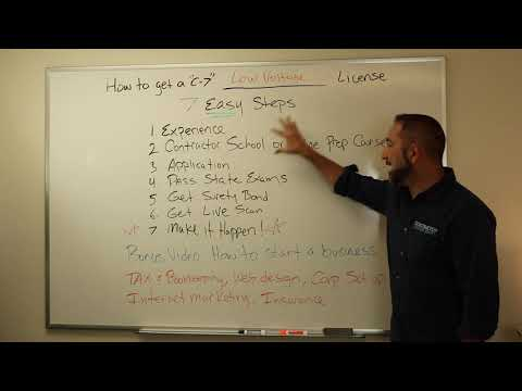 How to get a Low Voltage Contractors License (C-7) - YouTube