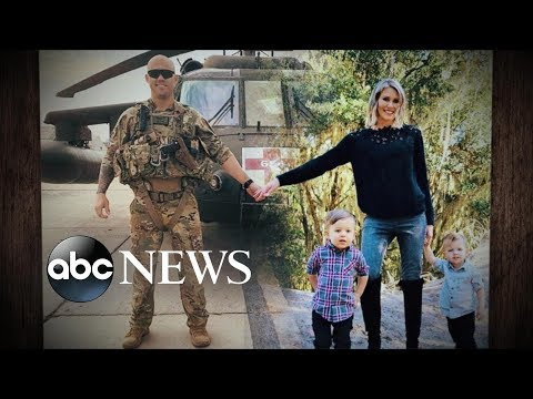 Military wife edits her husband into their family Christmas photo while he is serving| ABC News
