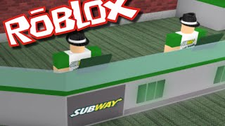 Roblox SUBWAY TYCOON!! BUILD YOUR OWN FAST FOOD RESTAURANT!!
