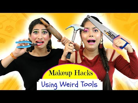 Most FUNNY Makeup HACKS using WEIRD Tools - ऐसा Challenge कभी ना देखा होगा | Anaysa
