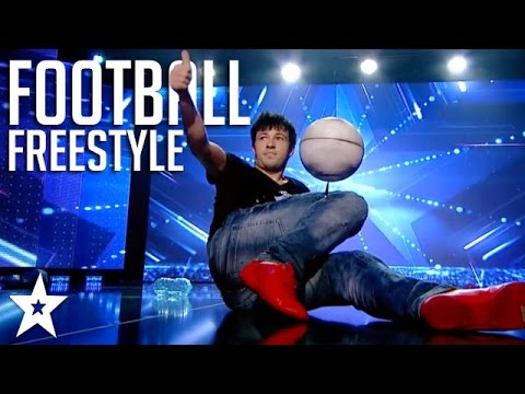 Insane Football Freestyle on Got Talent! | Got Talent Global