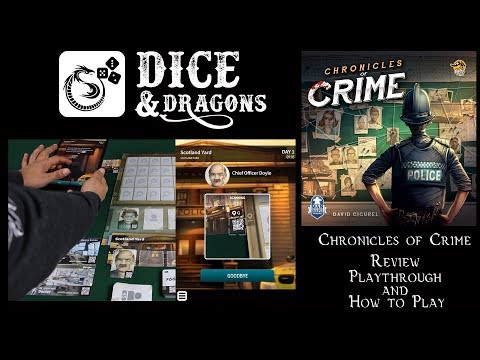 Dice and Dragons - Chronicles of Crime Review, Playthrough and How to Play
