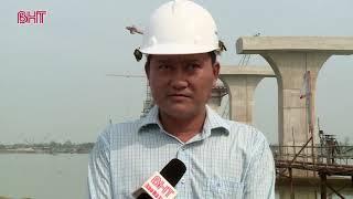 Cầu Cửa Hội nối Nghệ An - Hà Tĩnh dự kiến đưa vào sử dụng cuối năm 2020