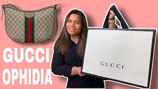 UNBOXING Gucci Ophidia GG Small Shoulder Bag L What Fits Inside + Mod Shots L My First Gucci Bag