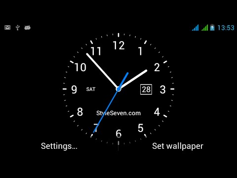 Video of Analog Clock Live Wallpaper-7