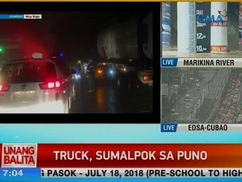 [GMA]  UB: Truck, sumalpok sa puno