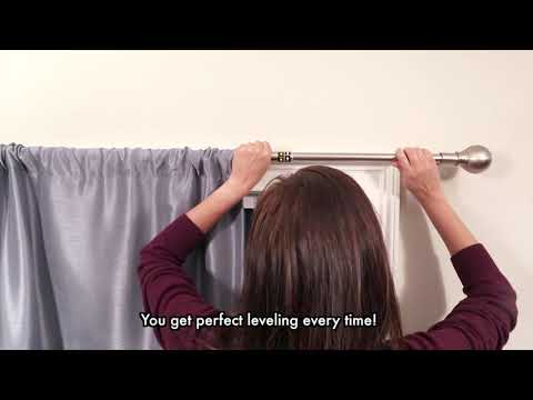 Smart Rods Easy Install Drapery Window Rod