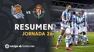 Resumen de Real Sociedad vs Real Valladolid (1-0)