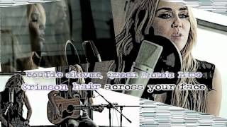 Miley Cyrus  - You're Gonna Make Me Lonesome When You Go [Karaoke/Instrumental] With Lyrics