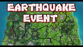 FORTNITE -  EARTHQUAKE EVENT LIVE IN GAME - COUNTDOWN NEXT EARTHQUAKE - NEW CRACK APPEARING ON MAP