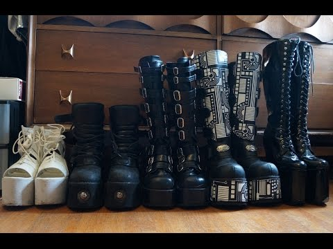 My Platform Shoe/Goth Boot Collection - 2015