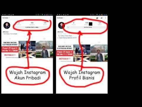 Video Cara Merubah Instagram dari Akun Pribadi Menjadi Profil Bisnis