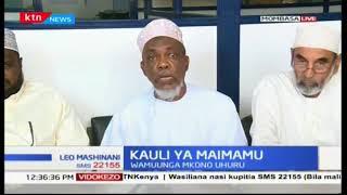 Muungano wa maimamu wakutana na kutoa habari kwa wanahabari kutokana na joto la kisiasa Mombasa