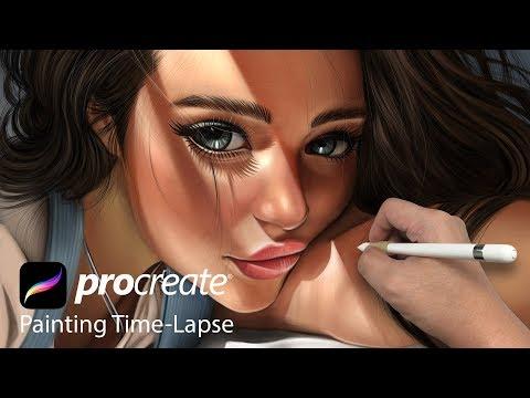 digital art using ipad procreate painting by vincent chu