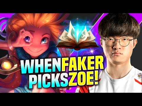 FAKER TRIES TO PLAY ZOE WITH SPELLBOOK! - SKT T1 Faker Plays Zoe vs Syndra Mid! | Season 10 KR SoloQ