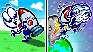 """I'm Leavin' On A Jetpack""   Animation   Cartoons   Pencilmation"