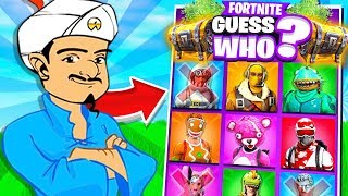 FORTNITE GUESS WHO CHALLENGE vs AKINATOR!
