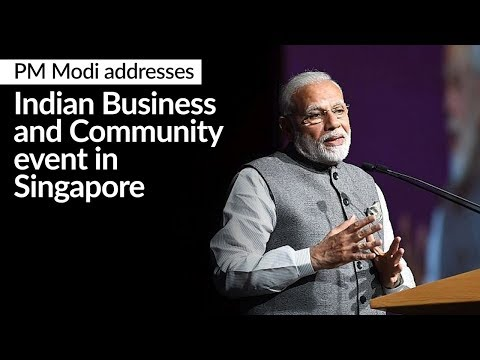 PM Modi addresses Indian Business and Community event in Singapore