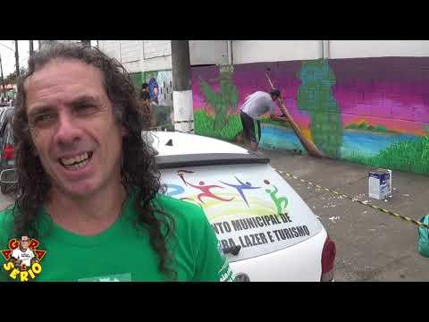 Arte nos Muros de São Lourenço da Serra no 1º Encontro de Grafite de São Lourenço da Serra