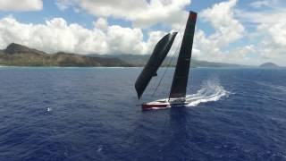 Transpac: COMANCHE skipper Ken Read – the boat lit up; we were 5-7% faster