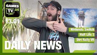 Nintendo Switch, Half Life 3, Dirt Rally VR | Games TV 24 Daily - 13.01.2017