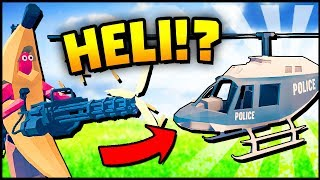 Totally Accurate Battlegrounds - CAN I FLY THAT HELICOPTER!? (TABS Battle Royale Gameplay TABG)
