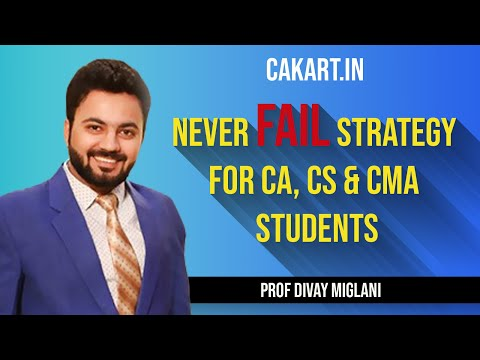 Never FAIL Strategy for law exam in ca cs and cma