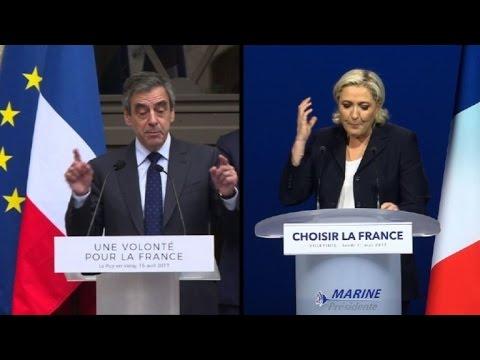Video: Francia: la ultraderechista Le Pen plagia discurso de Fillon