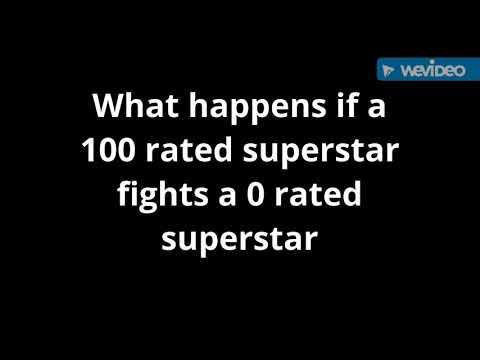 100 rated superstar vs 0 rated superstar